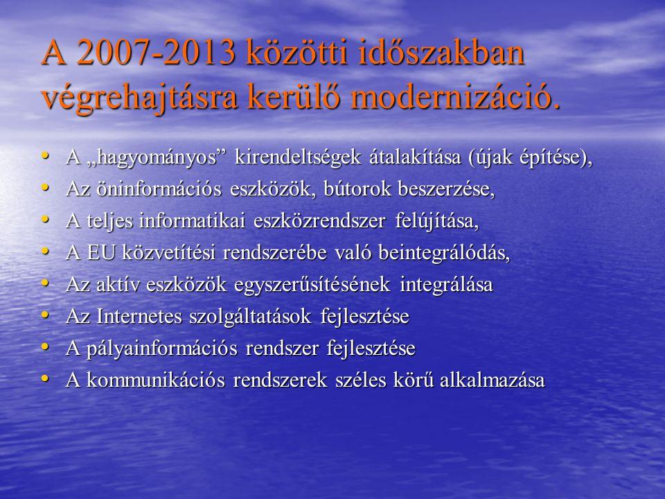A 2007-2013 közötti időszakban végrehajtásra kerülő modernizáció.