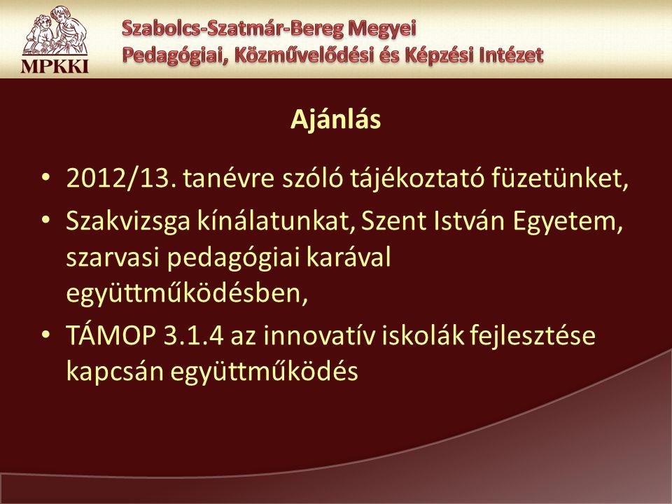 Ajánlás 2012/13.