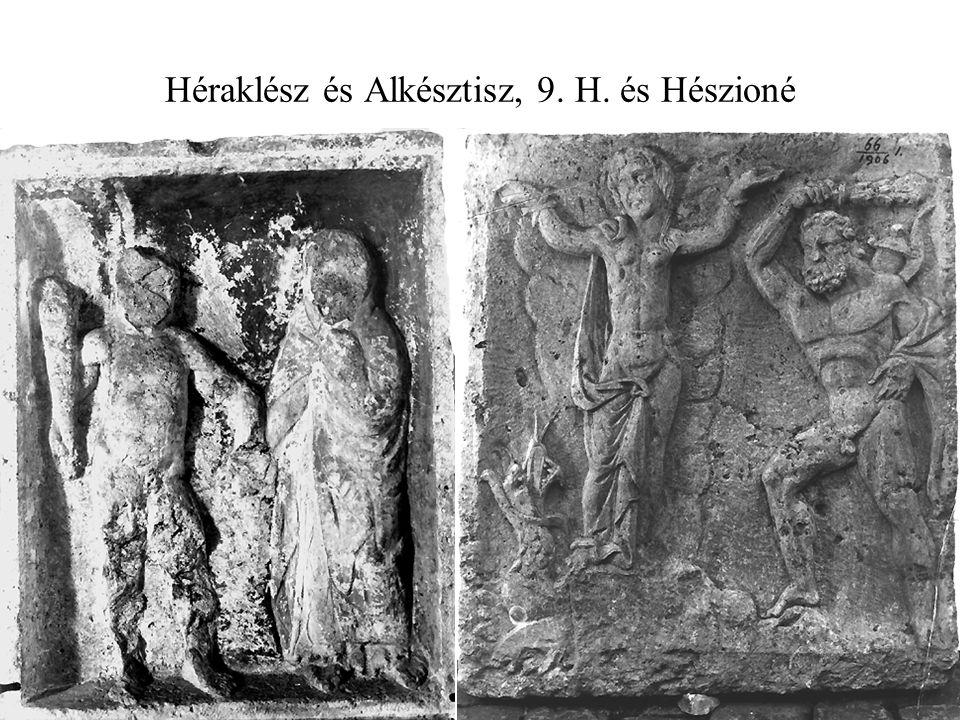 Héraklész és Alkésztisz, 9. H. és Hészioné