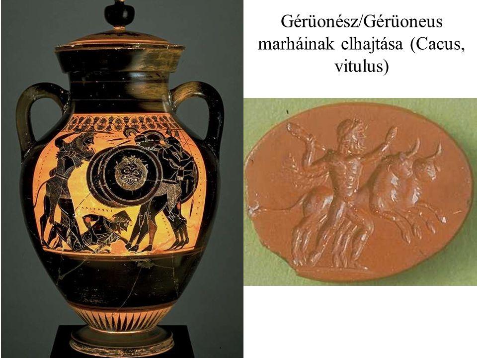 Gérüonész/Gérüoneus marháinak elhajtása (Cacus, vitulus)