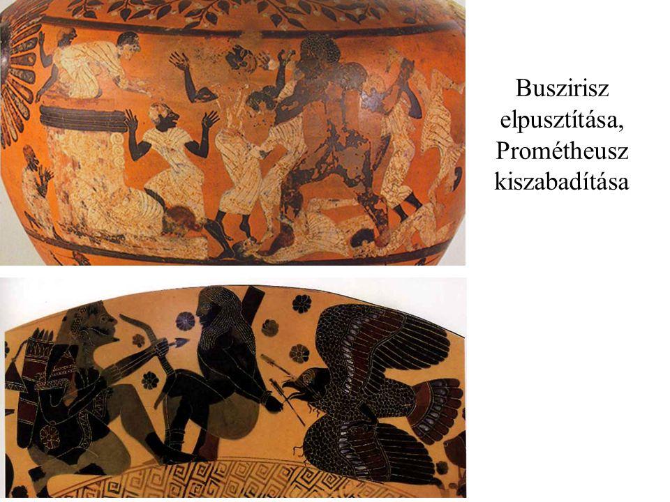 Buszirisz elpusztítása, Prométheusz kiszabadítása