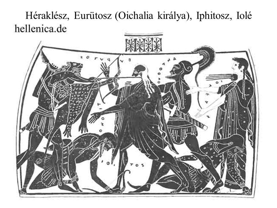 Héraklész, Eurütosz (Oichalia királya), Iphitosz, Iolé