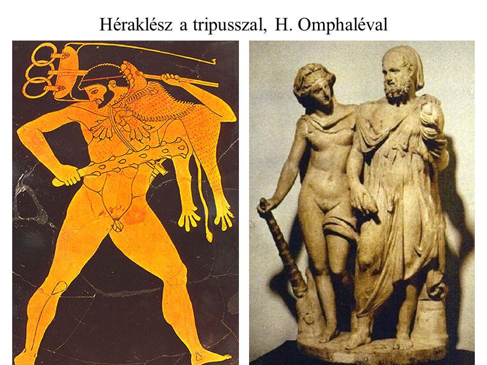 Héraklész a tripusszal, H. Omphaléval