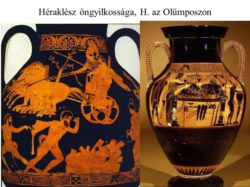 Héraklész öngyilkossága, H. az Olümposzon