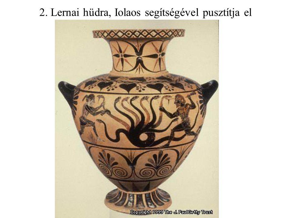 2. Lernai hüdra, Iolaos segítségével pusztítja el