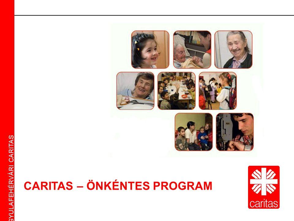 Caritas Alba Iulia Gyulafehérvári Caritas CARITAS – ÖNKÉNTES PROGRAM GYULAFEHÉRVÁRI CARITAS