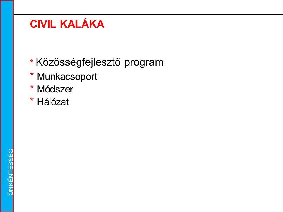 Caritas Alba Iulia Gyulafehérvári Caritas CIVIL KALÁKA * Közösségfejlesztő program * Munkacsoport * Módszer * Hálózat ÖNKÉNTESSÉG