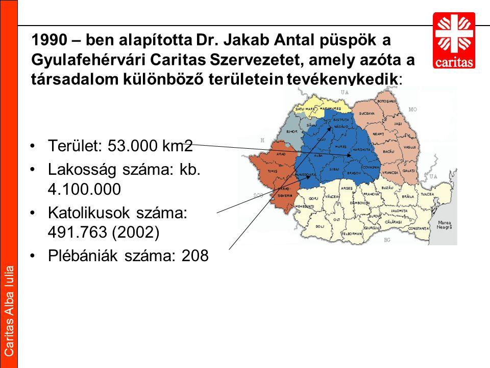 Caritas Alba Iulia Gyulafehérvári Caritas Gyulafehérvári Caritas ● Tevékenységi területek Önkéntesség és plébániai Caritas