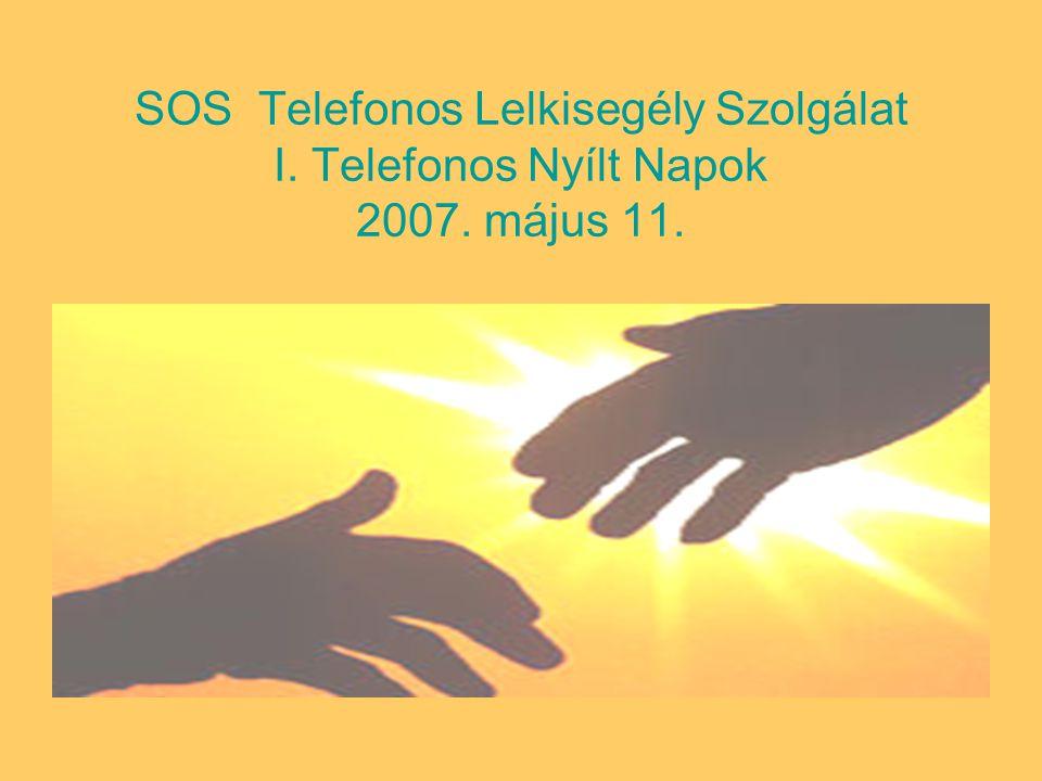 SOS Telefonos Lelkisegély Szolgálat I. Telefonos Nyílt Napok 2007. május 11.