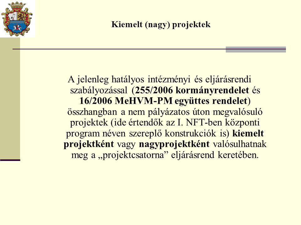A jelenleg hatályos intézményi és eljárásrendi szabályozással (255/2006 kormányrendelet és 16/2006 MeHVM-PM együttes rendelet) összhangban a nem pályá