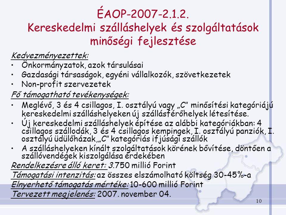 10 ÉAOP-2007-2.1.2.