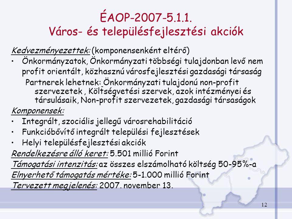 12 ÉAOP-2007-5.1.1.