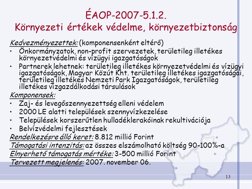 13 ÉAOP-2007-5.1.2.