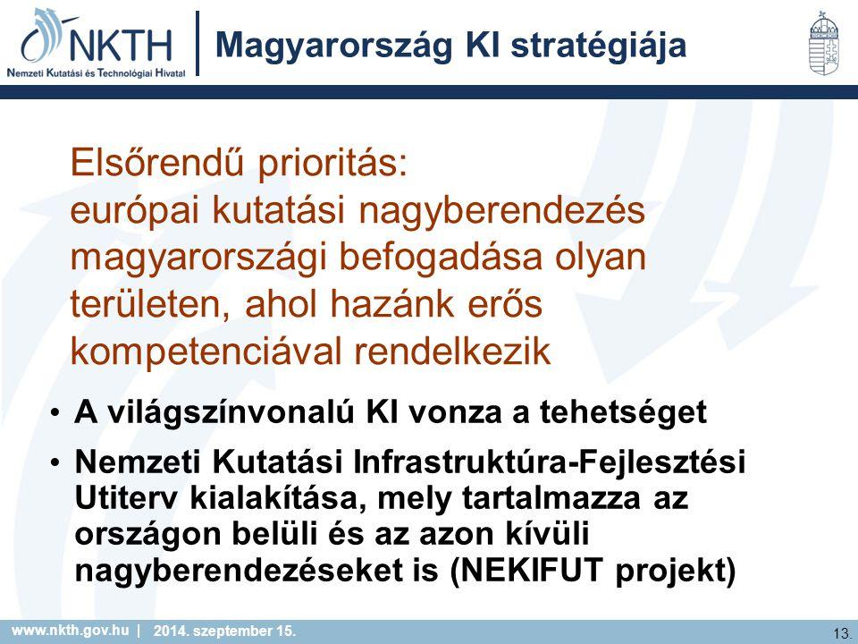 www.nkth.gov.hu | 13. 2014. szeptember 15.
