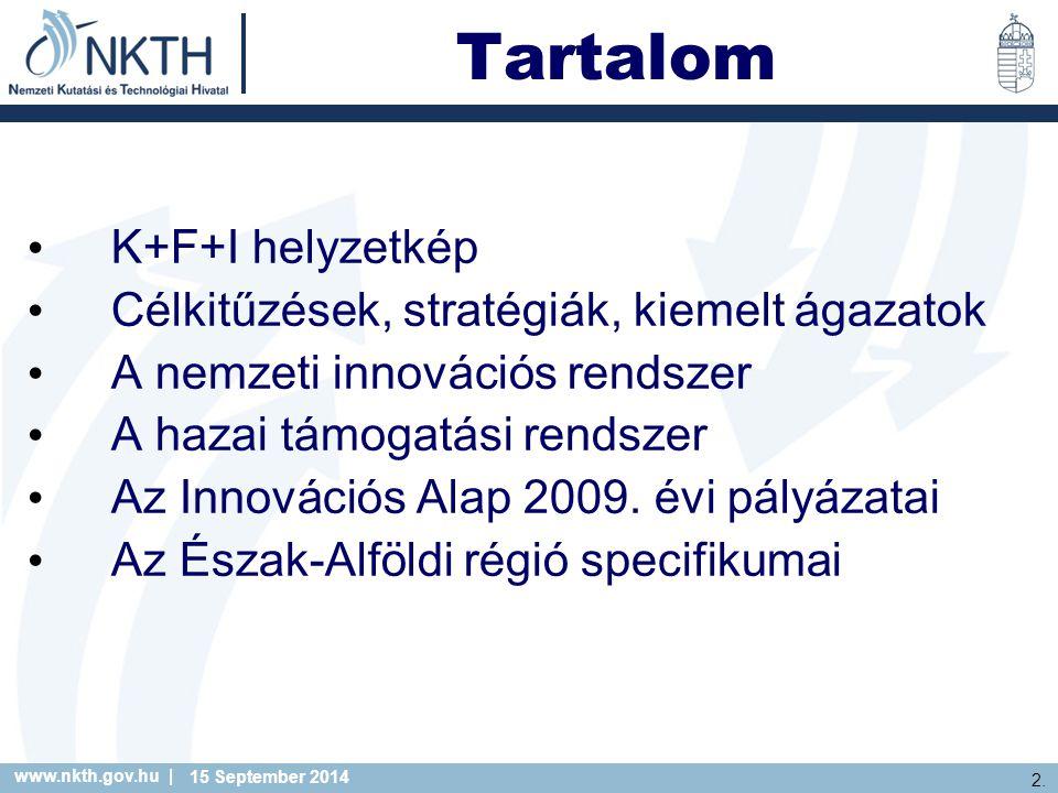 www.nkth.gov.hu | 23.2014. 09. 15. Technológia Magyarország – II.