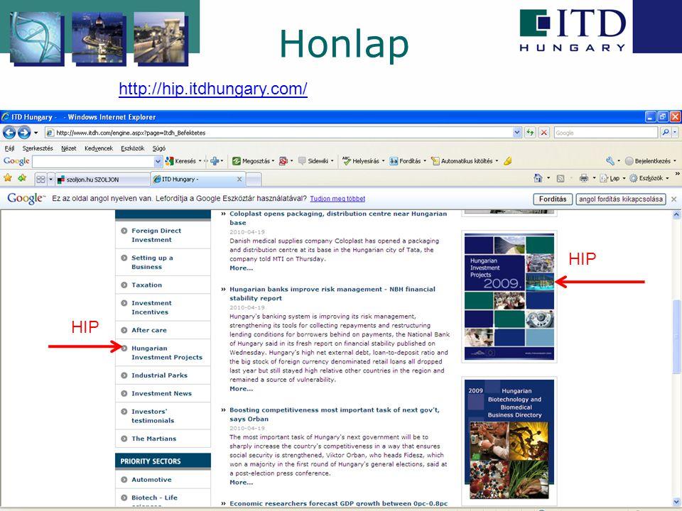 Honlap http://hip.itdhungary.com/ HIP