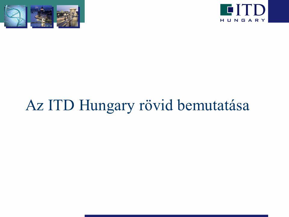 A társaság jogállása és háttere Non-profit intézmény, a Gazdasági Minisztérium háttérintézmény 1993 óta tulajdonosi jogokat a Nemzeti Fejlesztési és Gazdasági Minisztérium gyakorolja 2008.január 01.-től ITD Hungary Zrt.