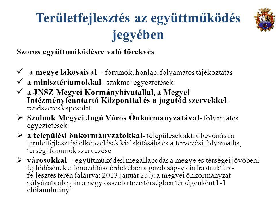 A Megyei Önkormányzat tervező munkájával összefüggő megyei tervdokumentumok elérhetők: www.jnszm.hu/Tervezés 2014-2020 Köszönöm megtisztelő figyelmüket!