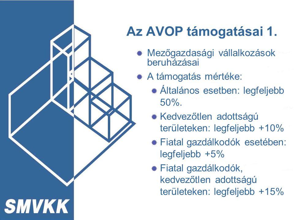 Az AVOP támogatásai 2.
