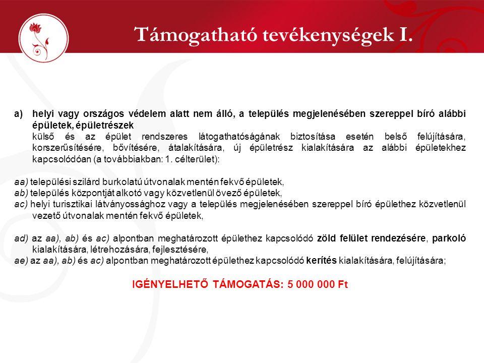 Csatolandó dokumentumok VII. ! !
