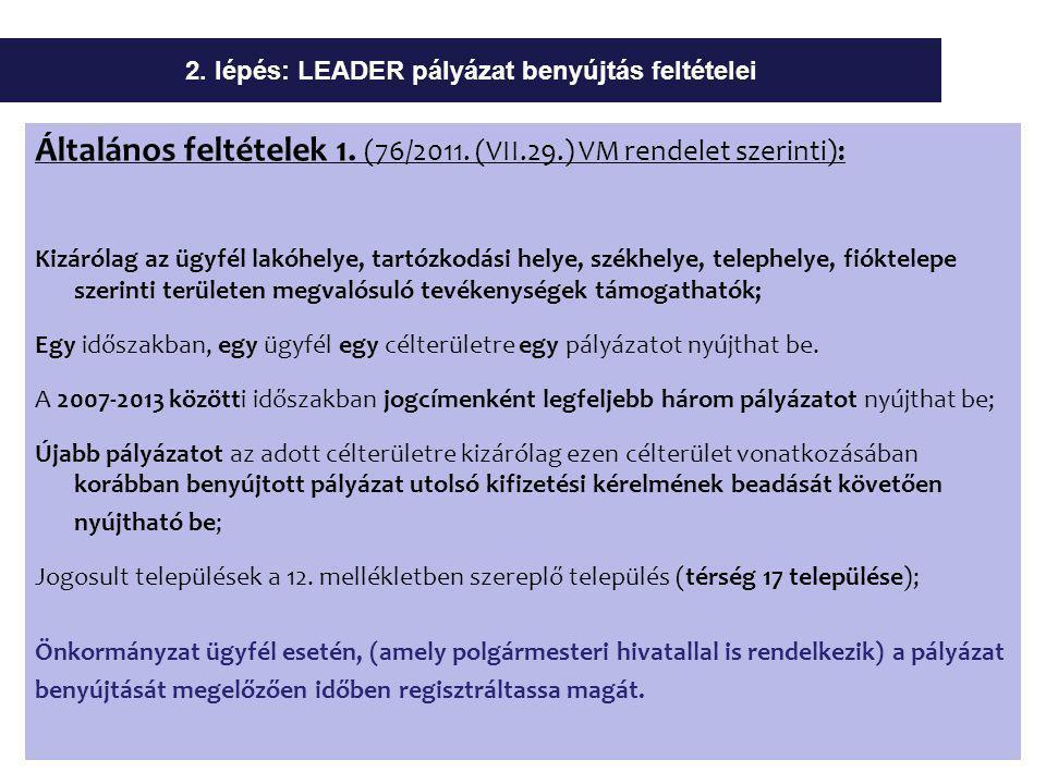 Általános feltételek 1. (76/2011.