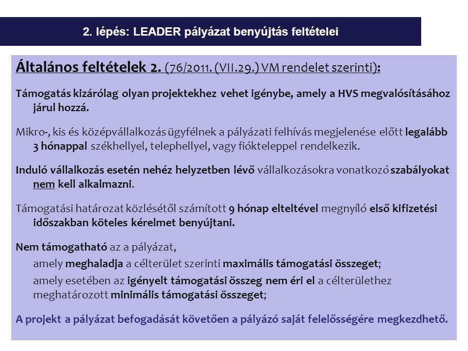 Általános feltételek 2. (76/2011.