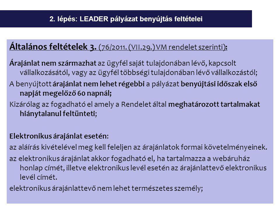 Általános feltételek 3. (76/2011.