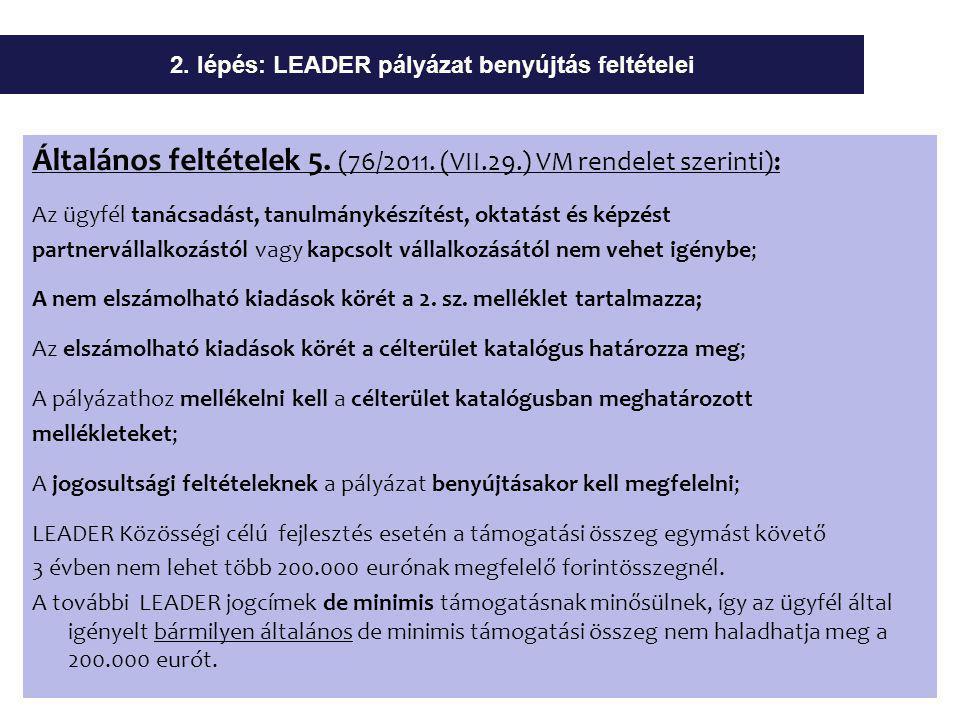 Általános feltételek 5. (76/2011.