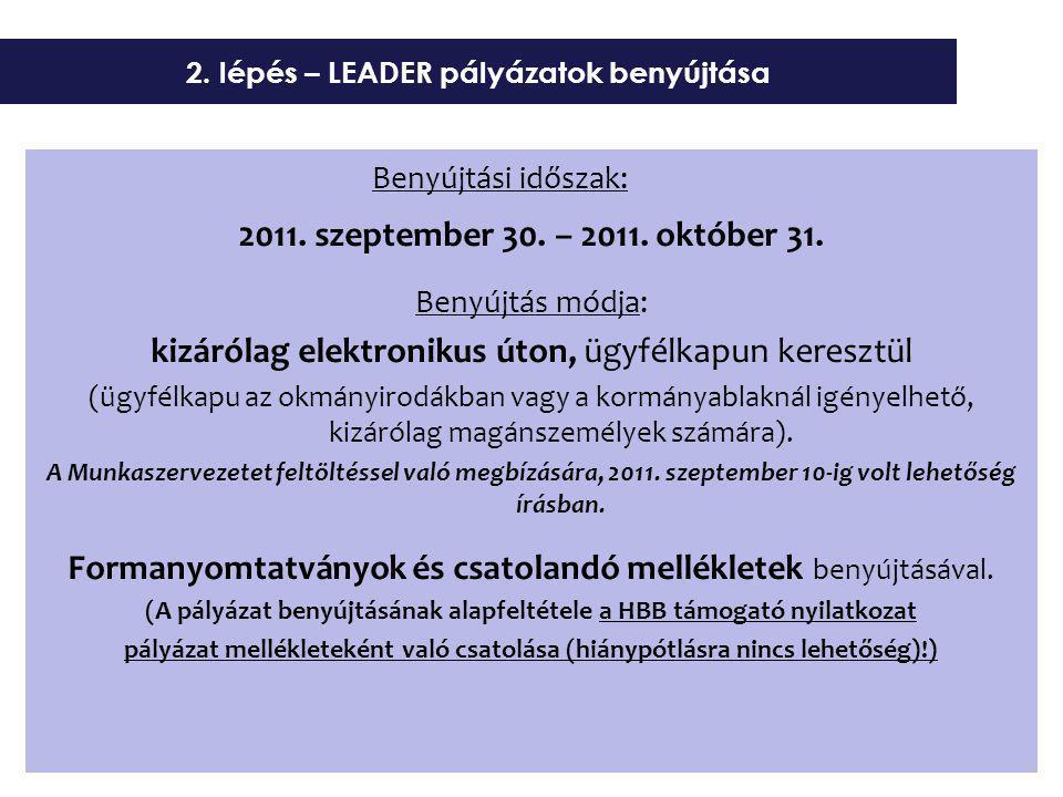 Benyújtási időszak: 2011. szeptember 30. – 2011.
