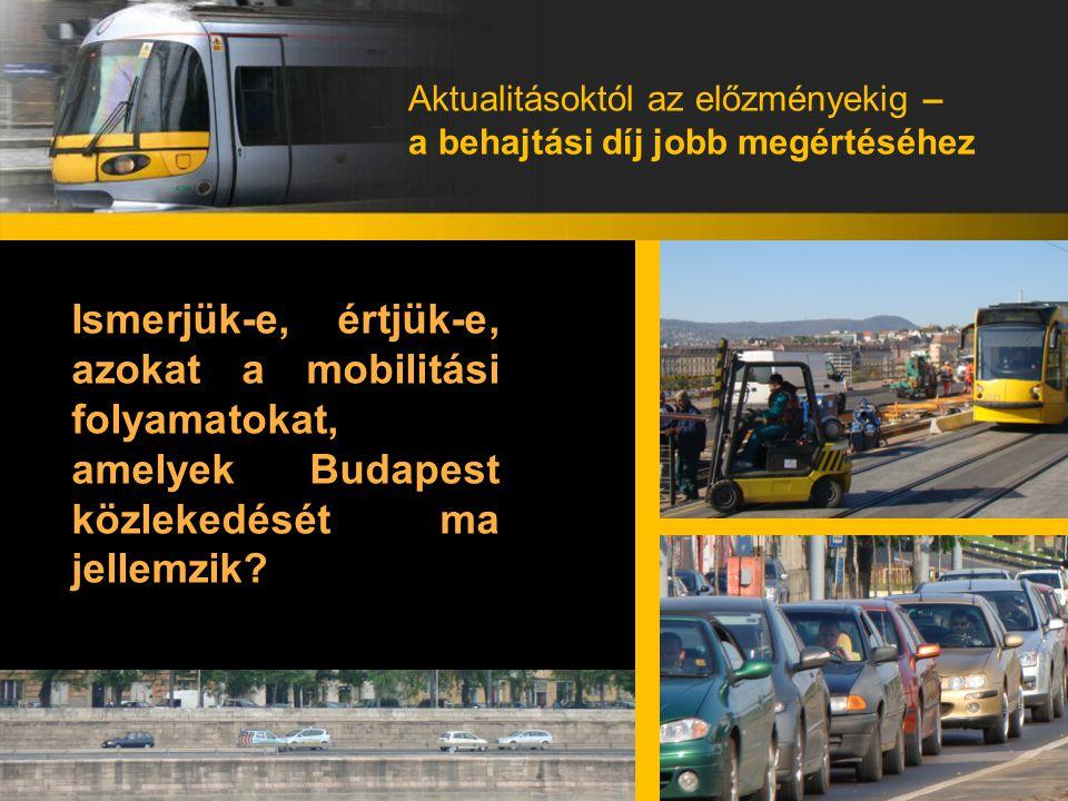 Aktualitásoktól az előzményekig – a behajtási díj jobb megértéséhez Ismerjük-e, értjük-e, azokat a mobilitási folyamatokat, amelyek Budapest közlekedé