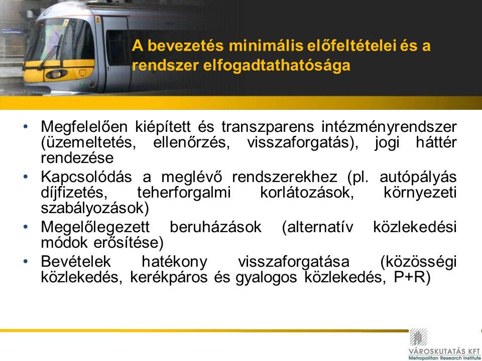 A bevezetés minimális előfeltételei és a rendszer elfogadtathatósága Megfelelően kiépített és transzparens intézményrendszer (üzemeltetés, ellenőrzés,