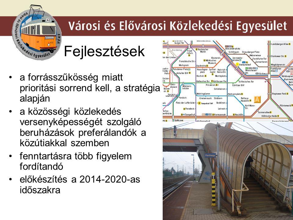 9 Fejlesztések a forrásszűkösség miatt prioritási sorrend kell, a stratégia alapján a közösségi közlekedés versenyképességét szolgáló beruházások preferálandók a közútiakkal szemben fenntartásra több figyelem fordítandó előkészítés a 2014-2020-as időszakra