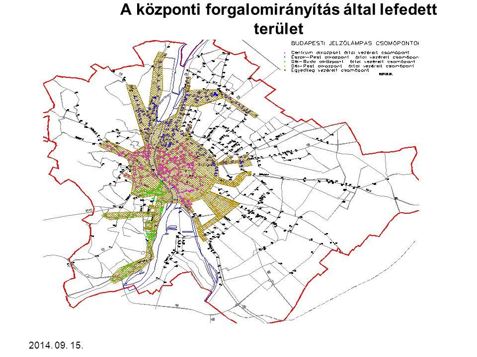 2014. 09. 15. A központi forgalomirányítás által lefedett terület