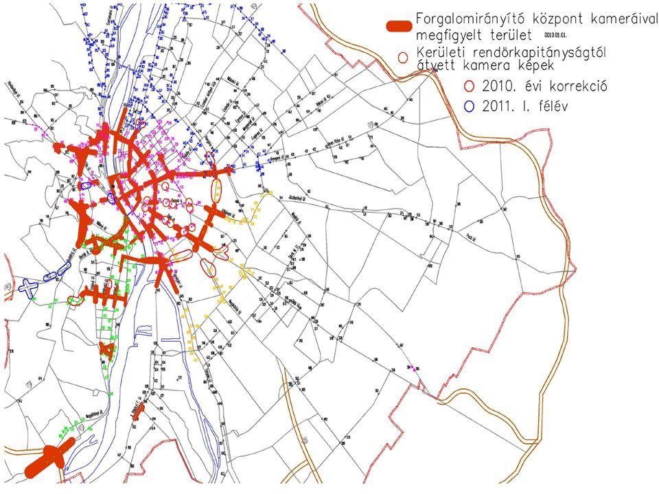 2014. 09. 15. Forgalomfigyelő rendszer által lefedett terület