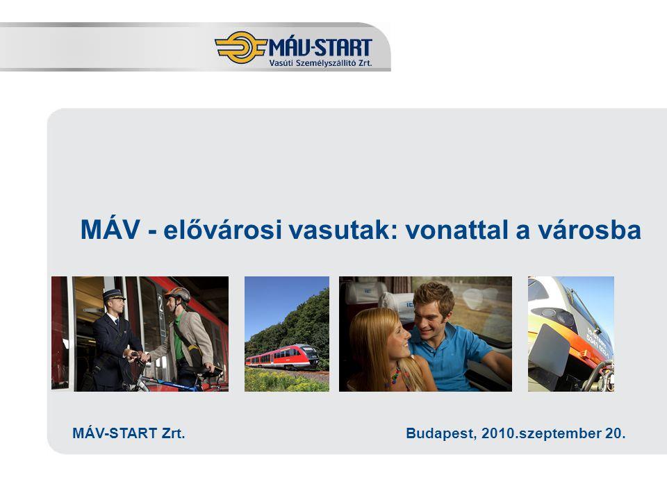 Előadó: Kozák Tamás MÁV - elővárosi vasutak: vonattal a városba MÁV-START Zrt. Budapest, 2010.szeptember 20.