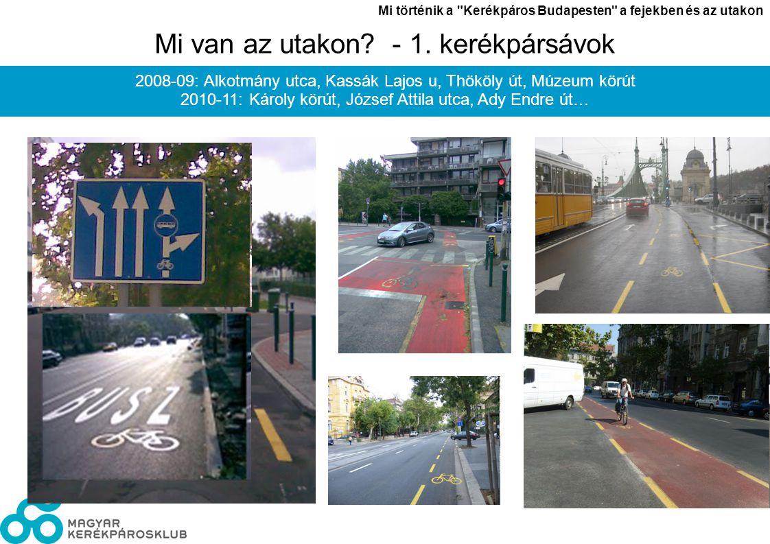 László János Mi történik a Kerékpáros Budapesten a fejekben és az utakon 6 Mi van az utakon.
