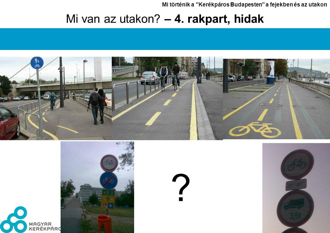 László János Mi történik a Kerékpáros Budapesten a fejekben és az utakon 9 Mi van az utakon.