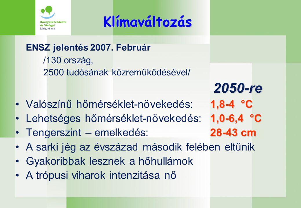 Klímaváltozás ENSZ jelentés 2007.