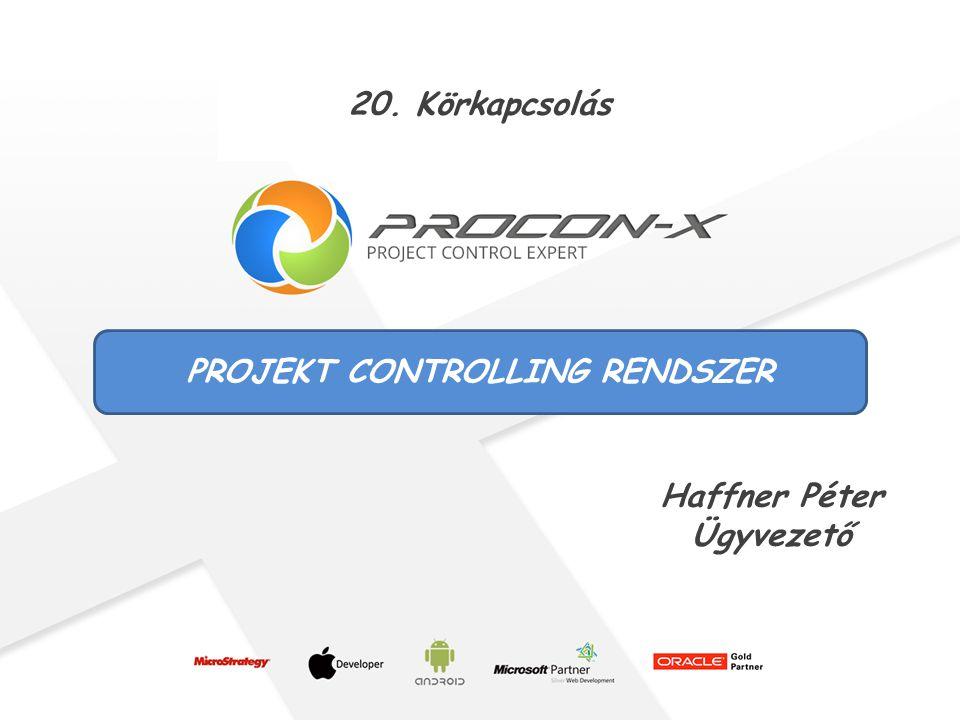 1 PROJEKT CONTROLLING RENDSZER Haffner Péter Ügyvezető 20. Körkapcsolás