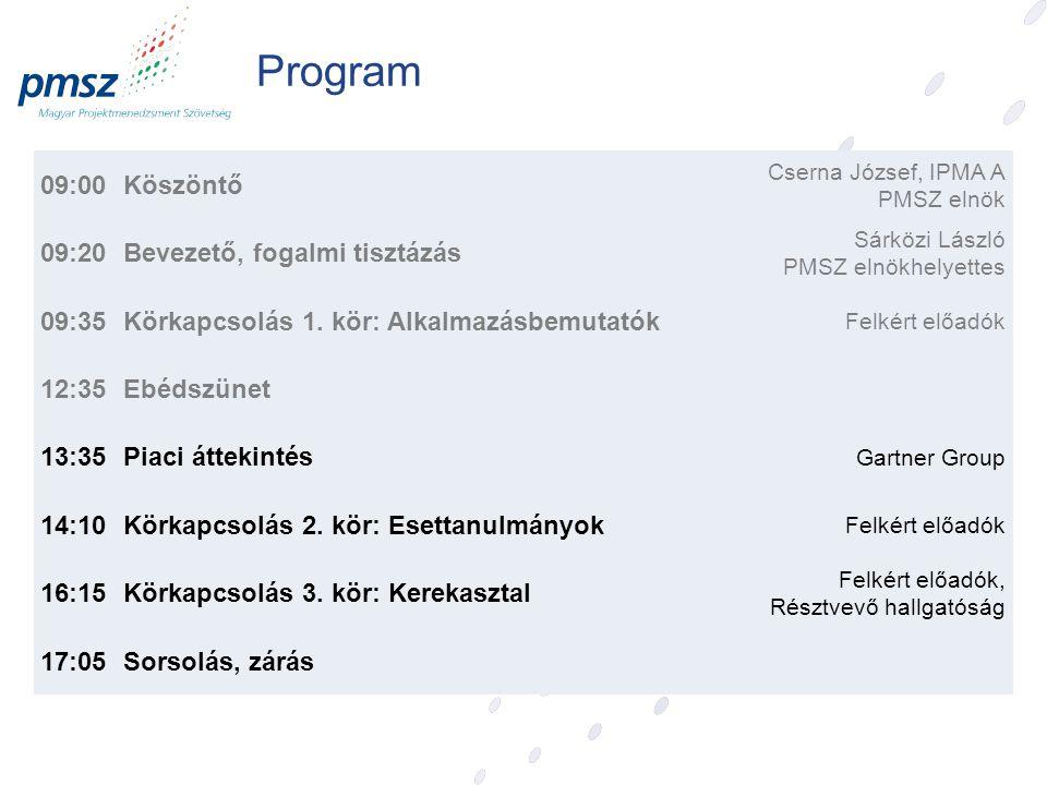 Felkért Előadóink Piaci áttekintés: Németh János Pál, Gartner EXP partner 2.