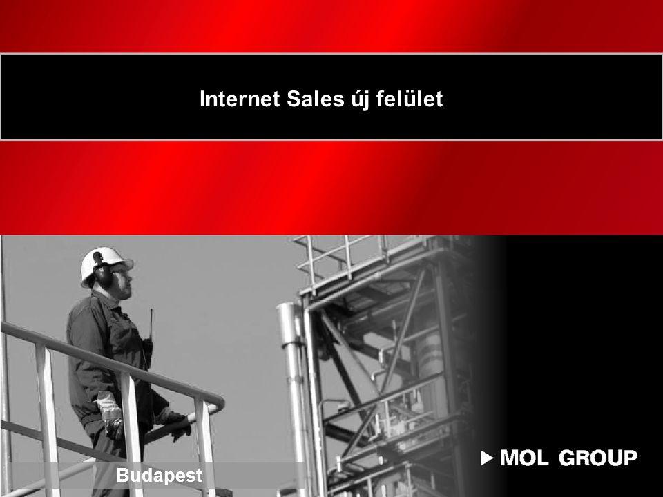 Internet Sales új felület Budapest