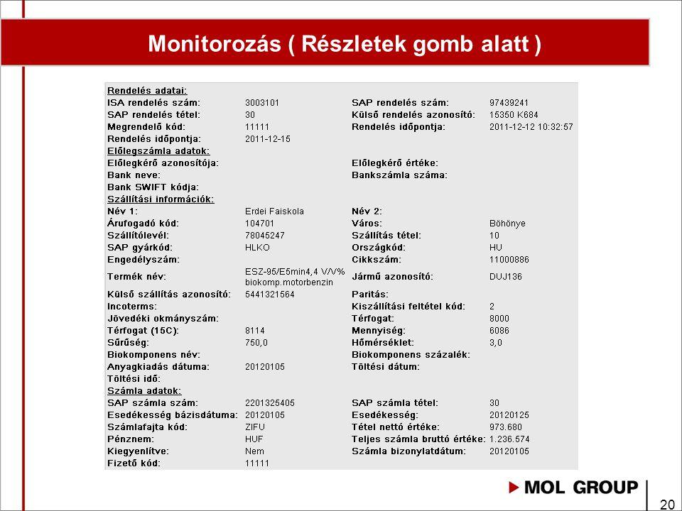 20 Monitorozás ( Részletek gomb alatt )