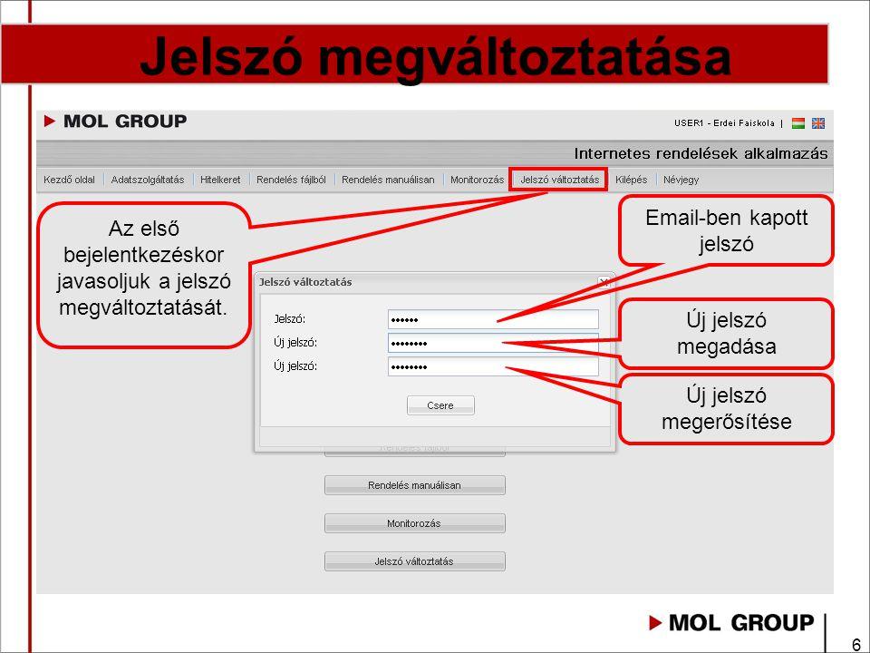 27 Fontos megjegyzések Internetes felületen elintézhető: Rendeléseket rögzítése - Rendelés Megjegyzés rovatba kérjük az áru átvevő mobil telefon számát megadni.