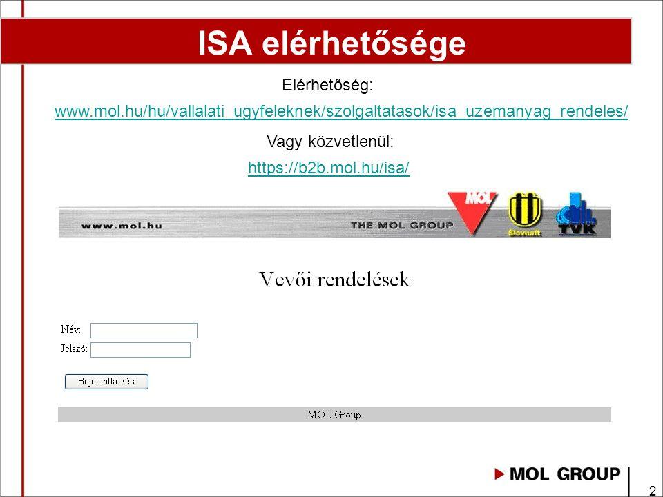3 ISA bejelentkezés