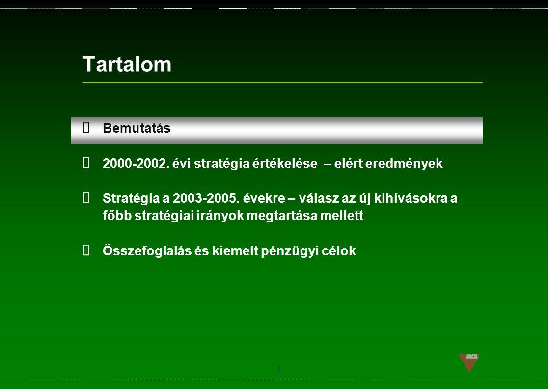 PSG\NOV02\CEEMEA\STRATEGIA_ROADSHOW_SLD(11).ppt 3 Tartalom  Bemutatás  2000-2002. évi stratégia értékelése – elért eredmények  Stratégia a 2003-200
