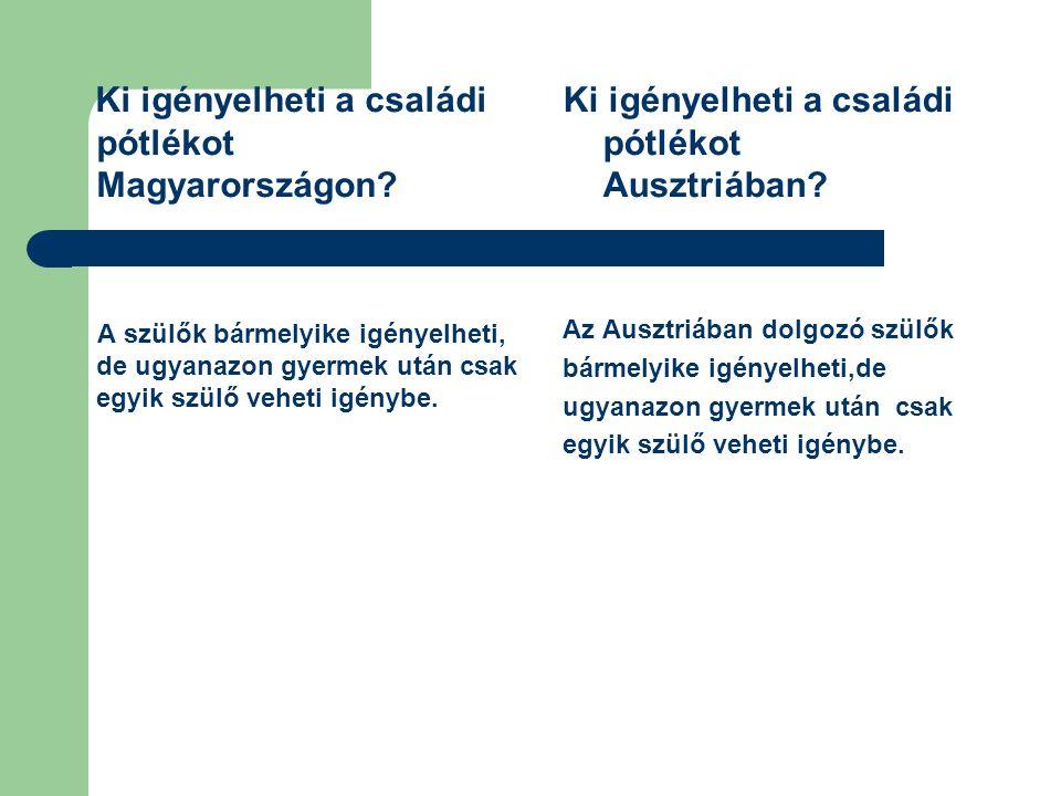 Ki igényelheti a családi pótlékot Magyarországon? A szülők bármelyike igényelheti, de ugyanazon gyermek után csak egyik szülő veheti igénybe. Ki igény