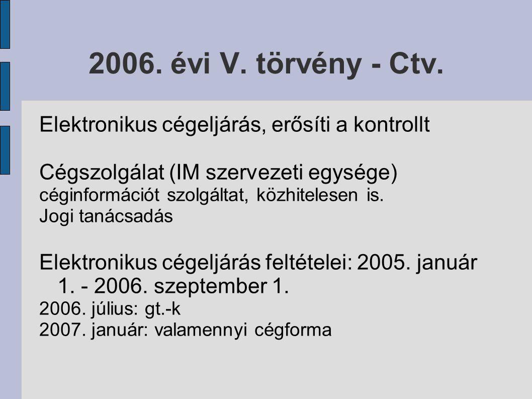 2006. évi V. törvény - Ctv.