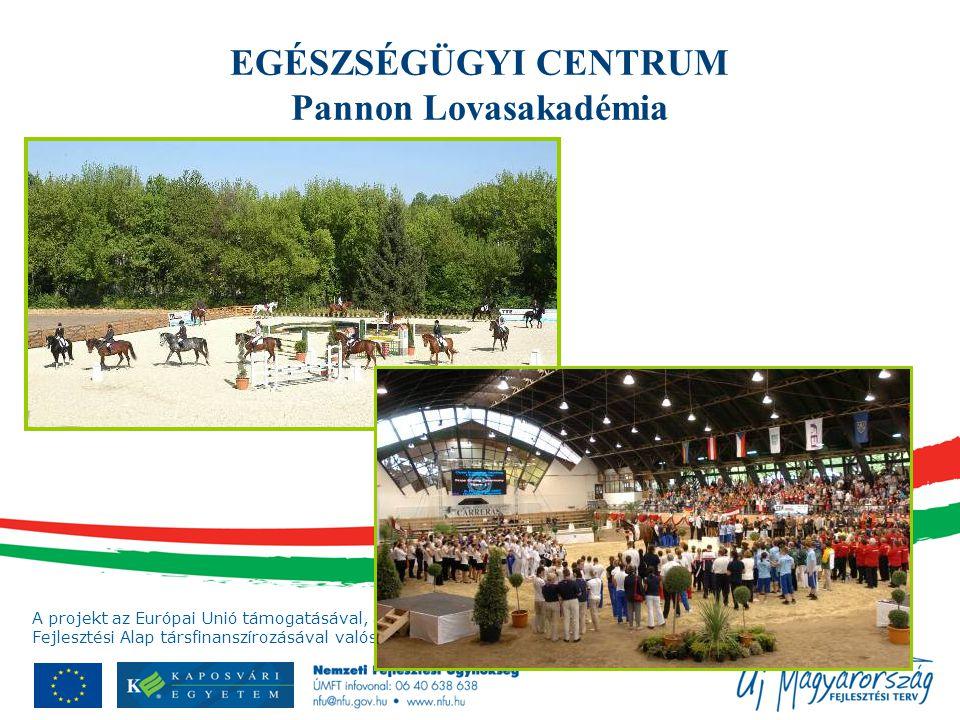 A projekt az Európai Unió támogatásával, az Európai Regionális Fejlesztési Alap társfinanszírozásával valósul meg. EGÉSZSÉGÜGYI CENTRUM Pannon Lovasak