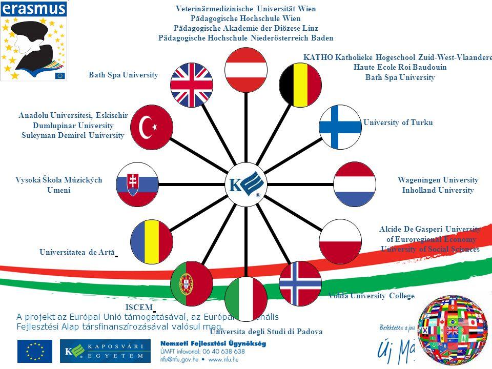 A projekt az Európai Unió támogatásával, az Európai Regionális Fejlesztési Alap társfinanszírozásával valósul meg. Veterinärmedizinische Universität W