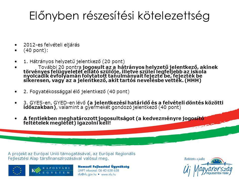 A projekt az Európai Unió támogatásával, az Európai Regionális Fejlesztési Alap társfinanszírozásával valósul meg. Előnyben részesítési kötelezettség